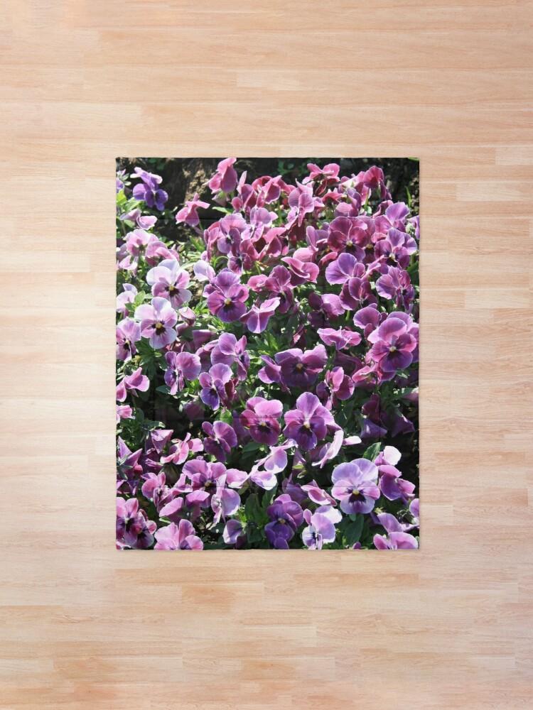 Alternate view of Purple Romantic Flowers Comforter