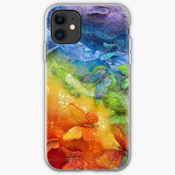 Rainbows and Butterflies iPhone Soft Case