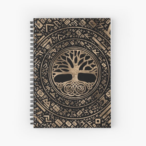 Árbol de la vida - Patrón rúnico de Yggdrasil Cuaderno de espiral