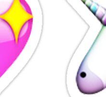 unicorn & heart emoji set Sticker
