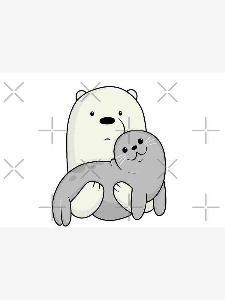 Ice Bear and Seal  by ValentinaHramov