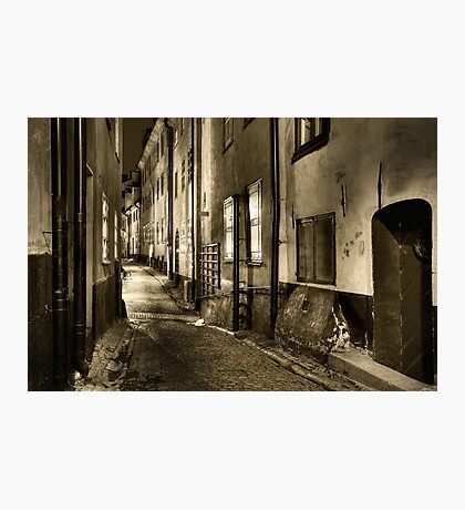 Old Town in sepia. Photographic Print