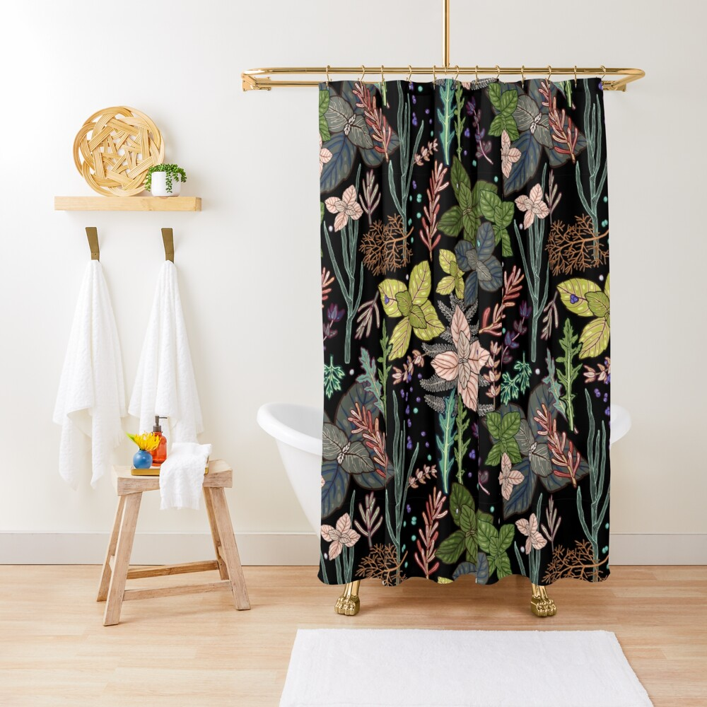 mysterious herbs Shower Curtain
