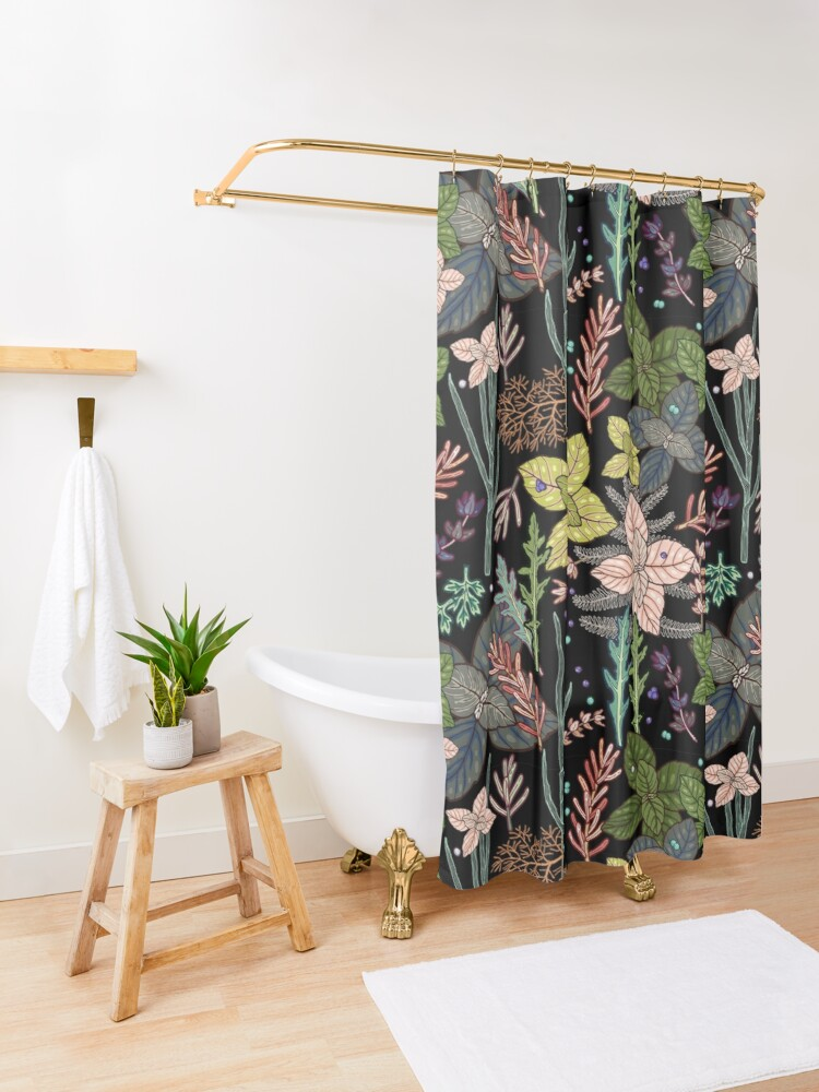 Alternate view of mysterious herbs Shower Curtain