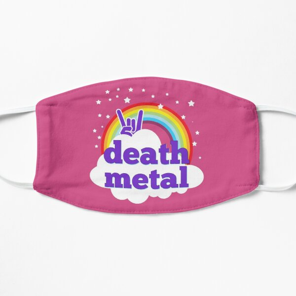 Death metal pink rainbow Mask