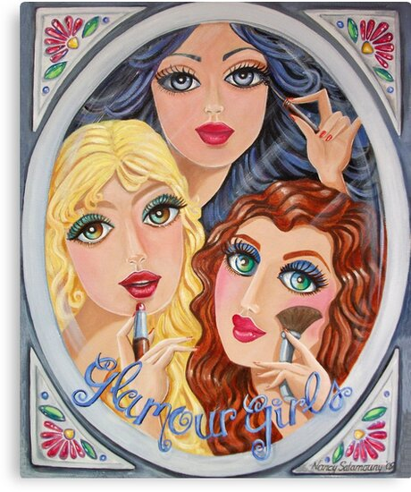 Snow White, Goldilocks and Little Red Riding Hood by nancy salamouny