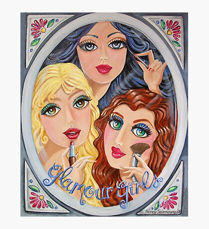 Snow White, Goldilocks and Little Red Riding Hood Photographic Print