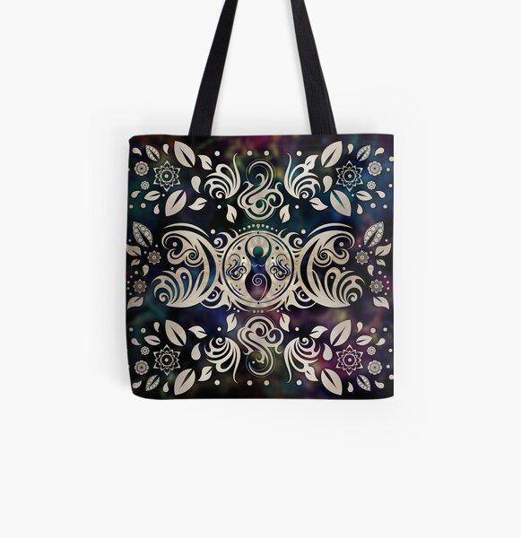 Triple Moon Goddess Moonlight purple #1 All Over Print Tote Bag