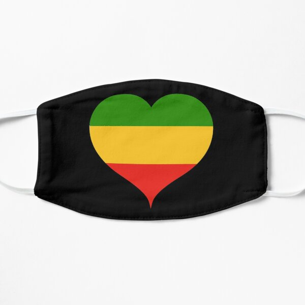 Rasta Rastafarian Love Heart Mask