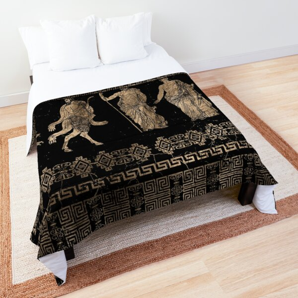 Greek Dieties and Meander key ornament Comforter