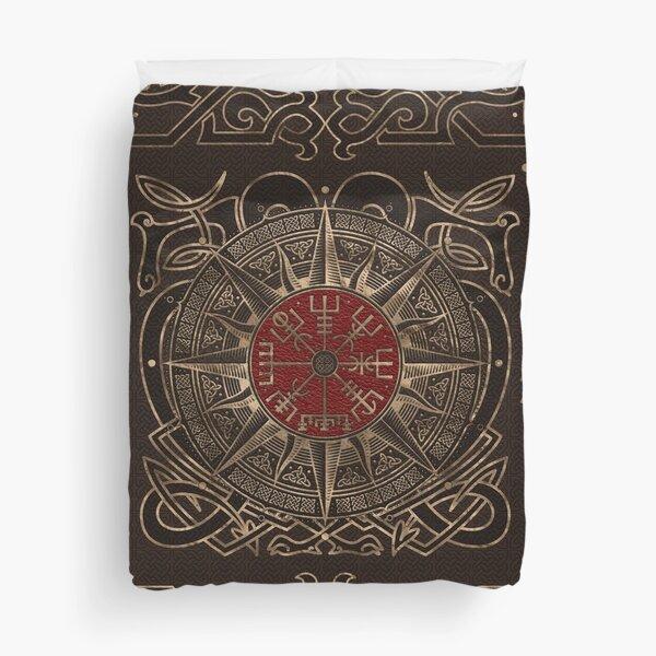 Vegvisir - Viking Compass Ornament Duvet Cover