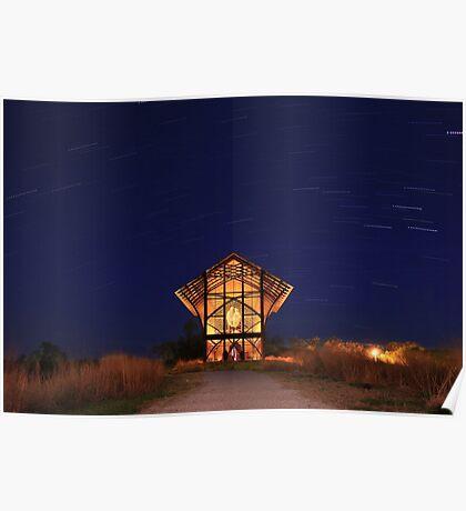 Shrine at Night Poster