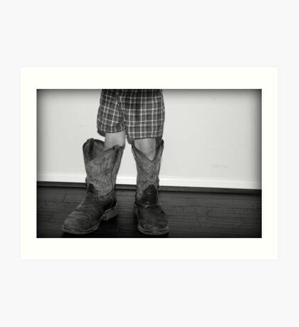 In daddy's shoes... Art Print