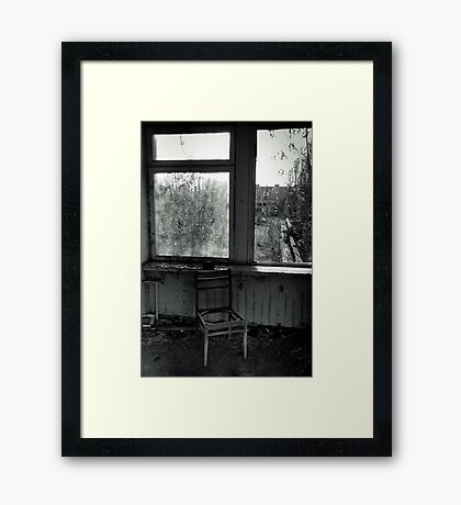 A Seat by the Window Framed Print