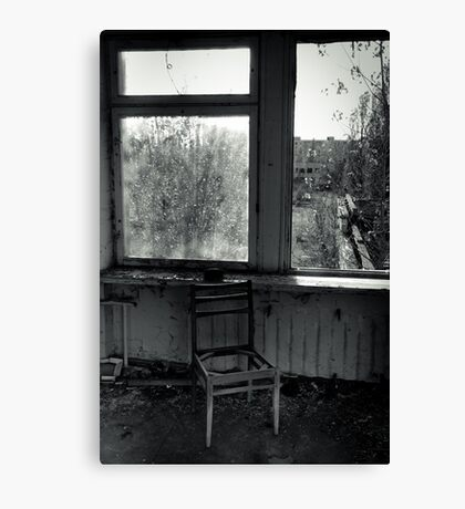 A Seat by the Window Canvas Print