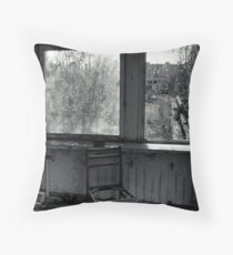 A Seat by the Window Throw Pillow