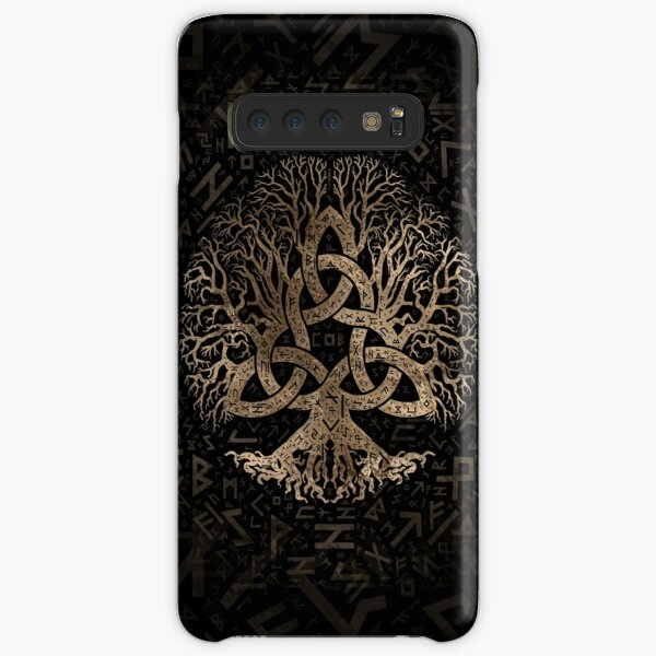 Tree of life with Triquetra on Futhark pattern Samsung Galaxy Snap Case