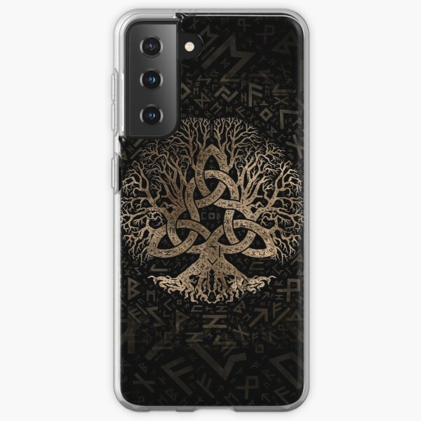 Tree of life with Triquetra on Futhark pattern Samsung Galaxy Soft Case
