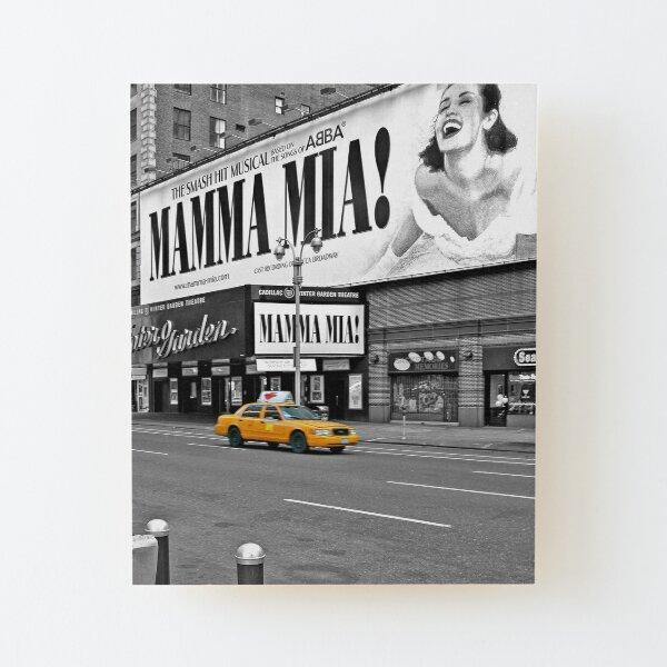 NYC Yellow Cabs Mamma Mia Wood Mounted Print