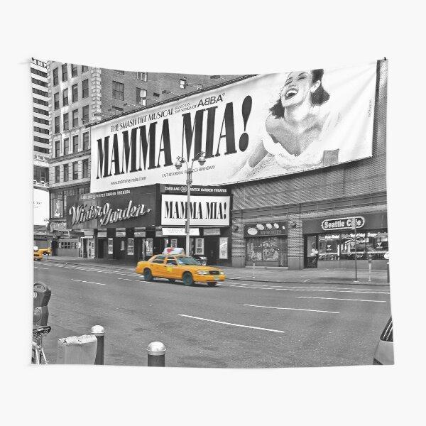 NYC Yellow Cabs Mamma Mia Tapestry