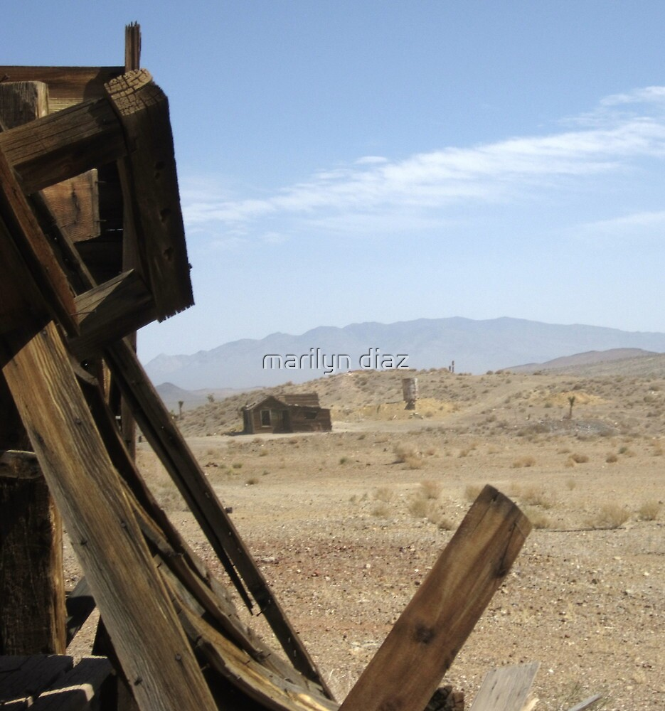Looking Out Of The Mine,Old West Style by marilyn diaz