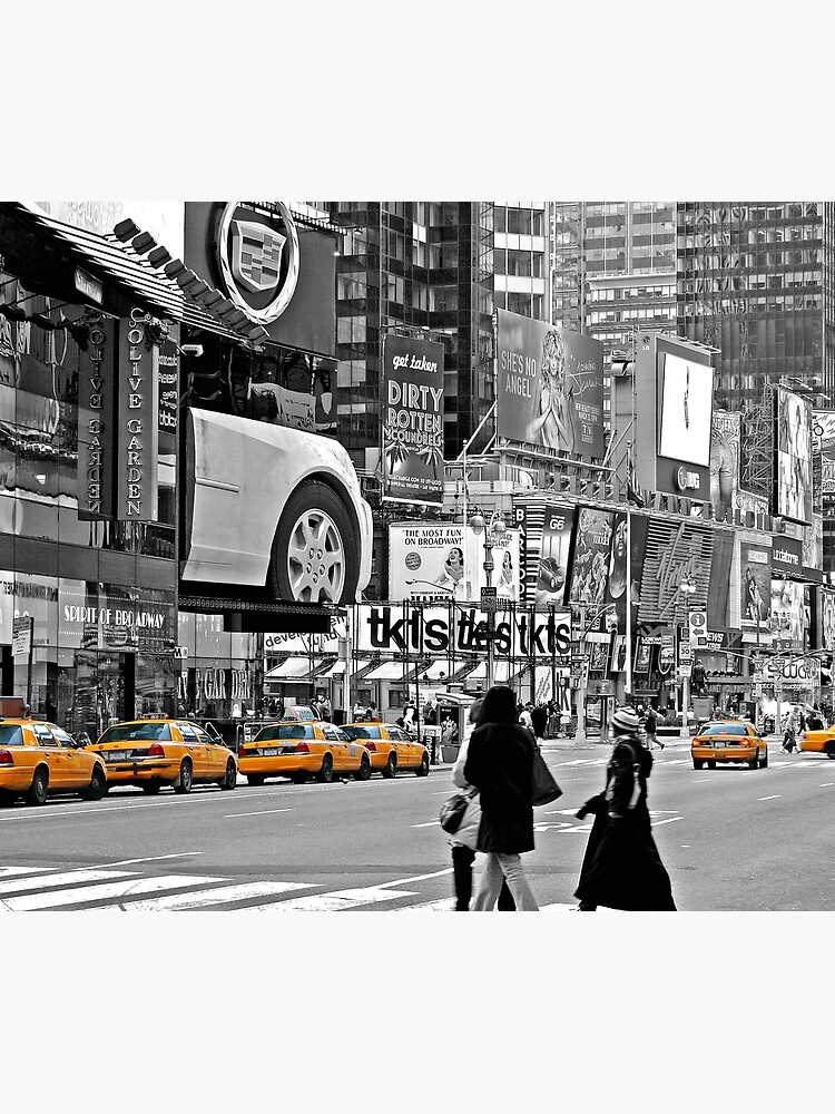 NYC Yellow Cabs Times Square by Hell-Prints