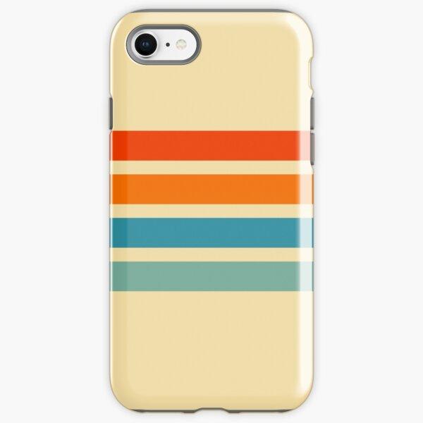 Vintage Style Retro Summer Stripes Cernunnos iPhone Tough Case
