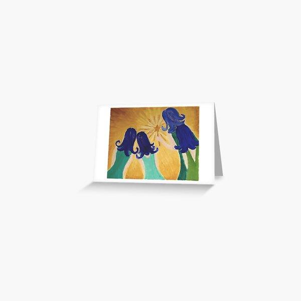Blue Belles Greeting Card