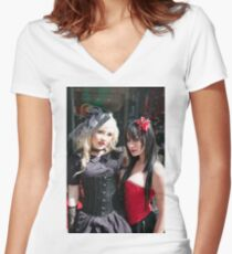 Whitby Goth Weekend 3 Women's Fitted V-Neck T-Shirt