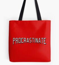 Procrastinate flix Tote Bag