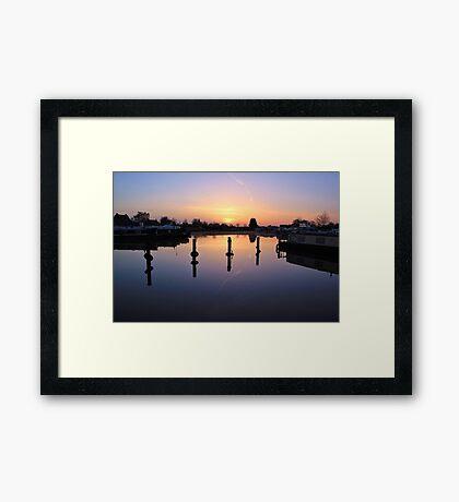 West Stockwith Basin Sunrise Framed Print