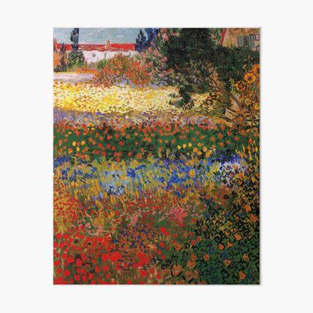 Garden in Bloom, Arles, 1888,  Vincent van Gogh Art Board Print