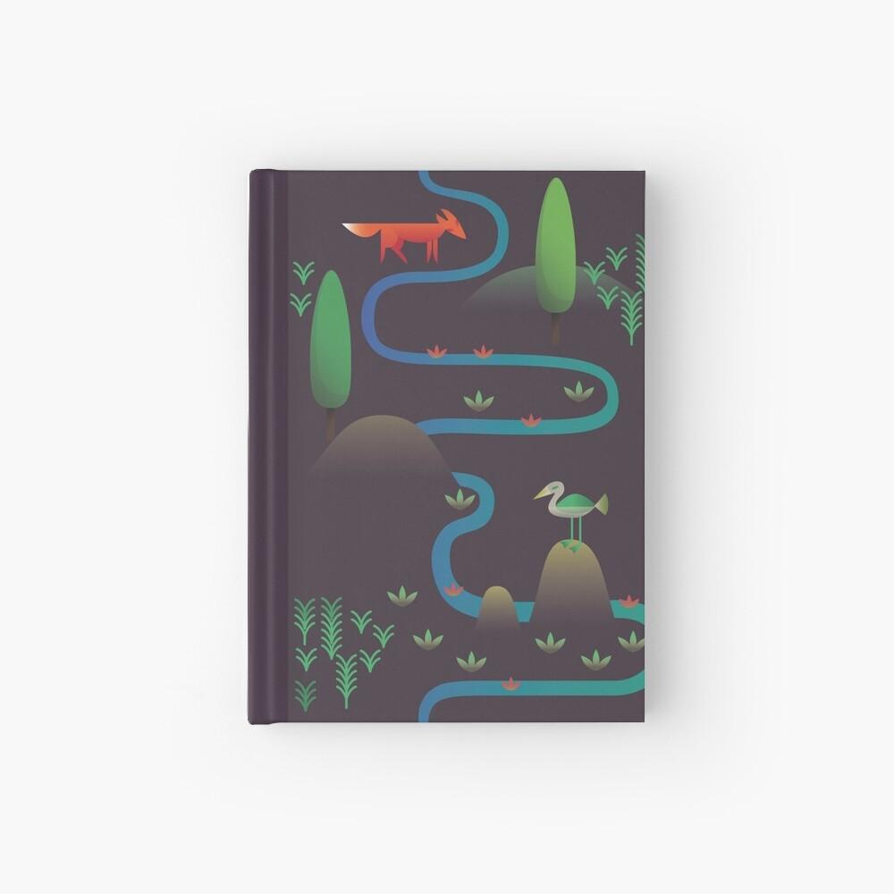 Landschaft - Fuchs und Bach 2 (Muster) Notizbuch