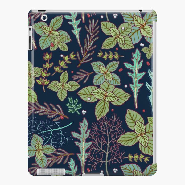 dark herbs pattern iPad Snap Case