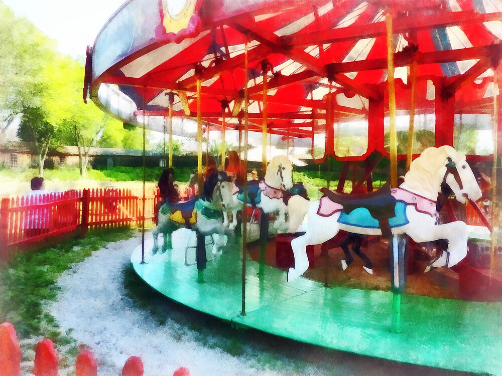 Sunny Afternoon on the Carousel by Susan Savad