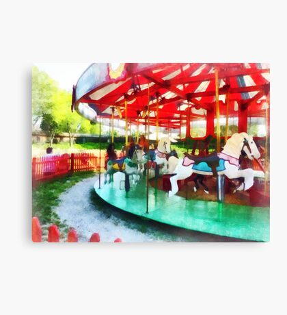 Sunny Afternoon on the Carousel Canvas Print