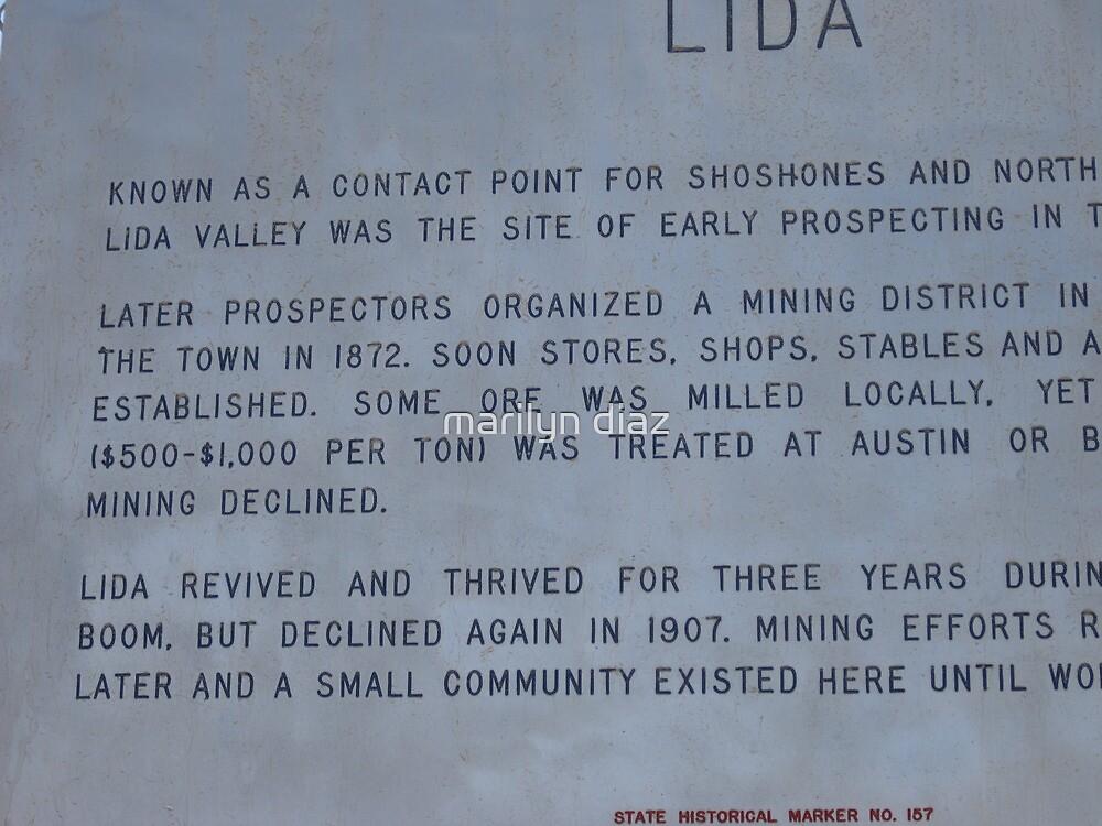 Lida, Nevada by marilyn diaz