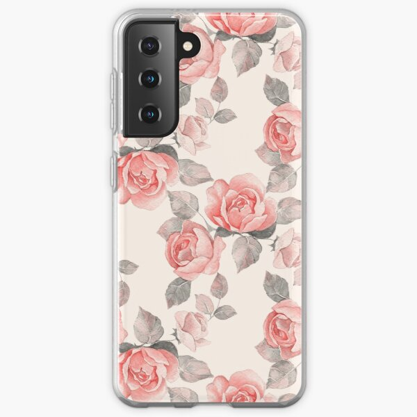 Floral pattern 8. Roses Samsung Galaxy Soft Case