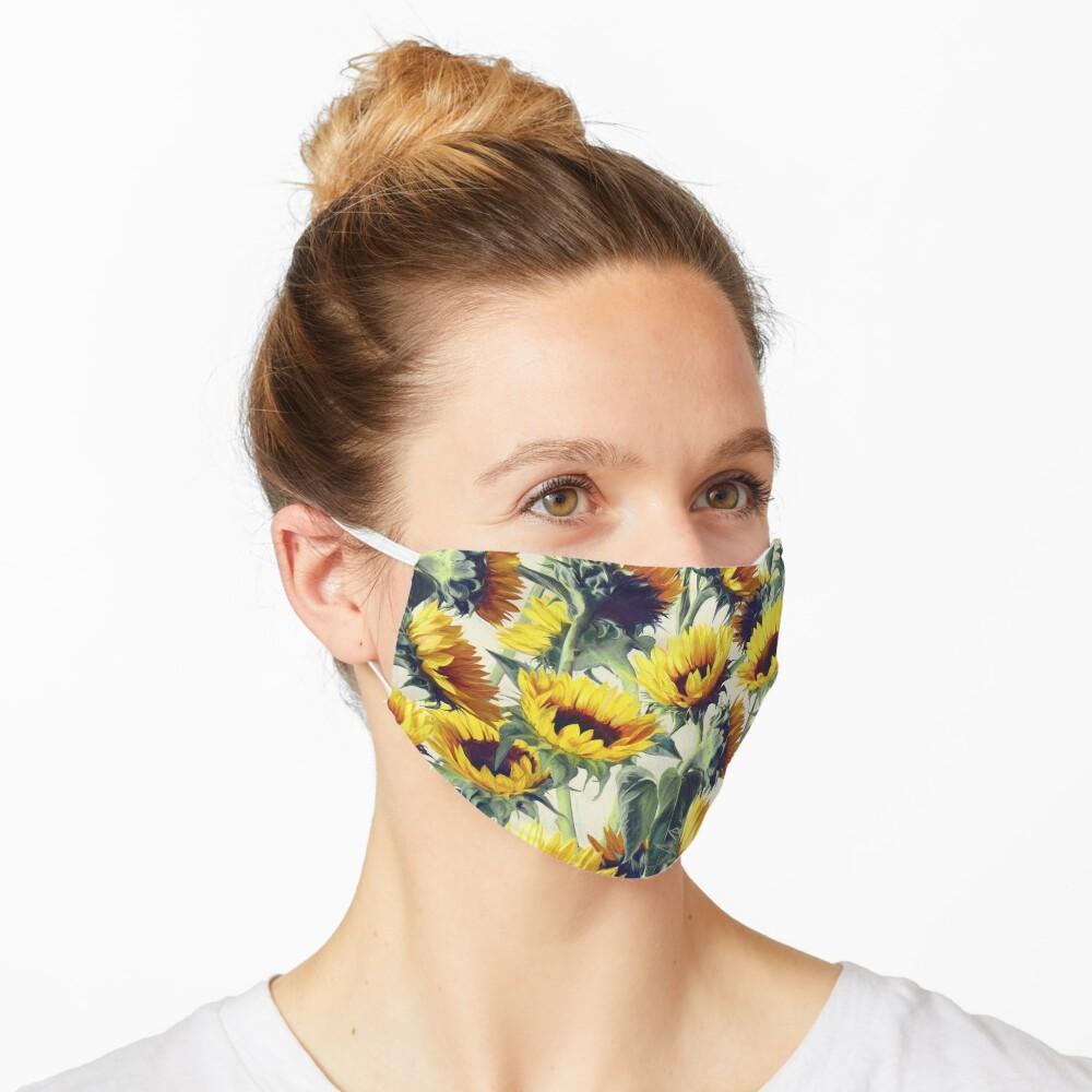 Sunflowers Forever Mask