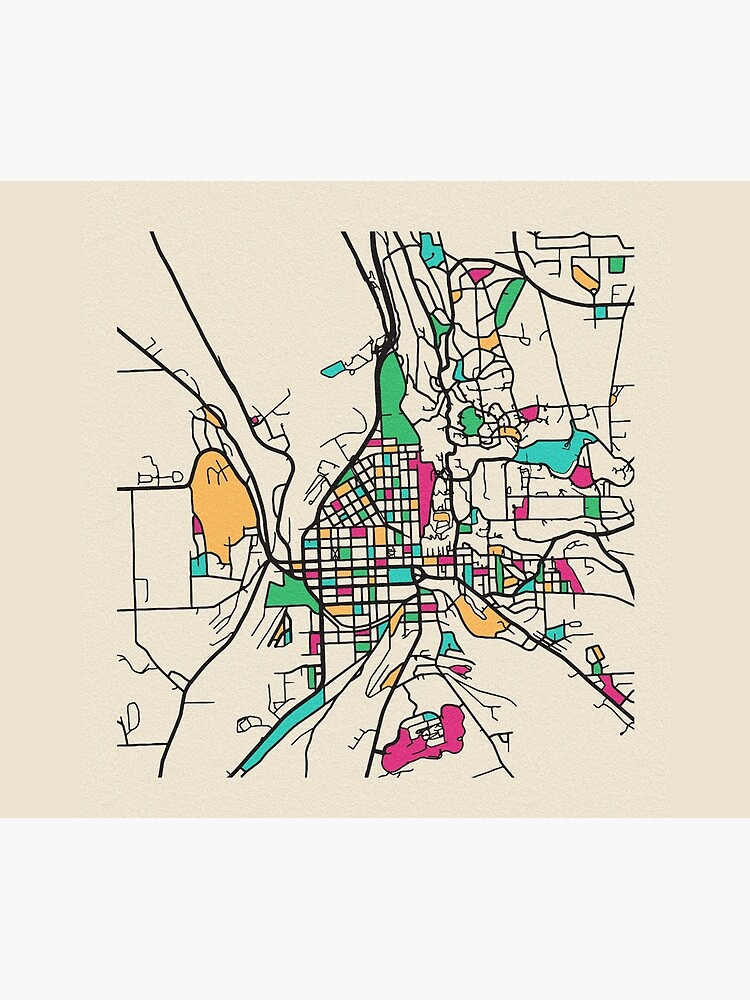Ithaca, New York Street Map by geekmywall