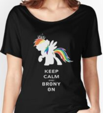 Keep Calm And Brony On Women's Relaxed Fit T-Shirt