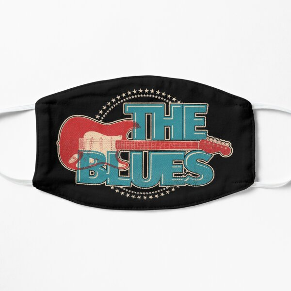 Vintage Style Blues Guitar With Stars  Mask
