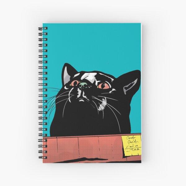 Cat in a box Spiral Notebook