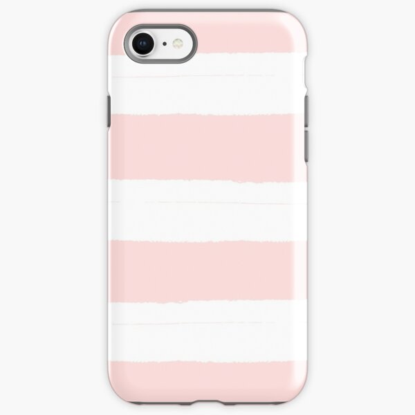 Pastel Pink and White Stripes iPhone Tough Case