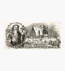 Old Christmas Church Snow scene 1862 Photographic Print