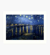 Starry Night Over the Rhone by Vincent van Gogh Art Print