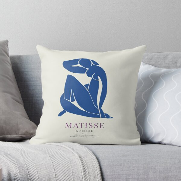 Henri Matisse Nu Bleu II (Blue Nude II) 1952 Artwork for Wall Art, Prints, Posters, Tshirts, Men, Women, Youth Throw Pillow