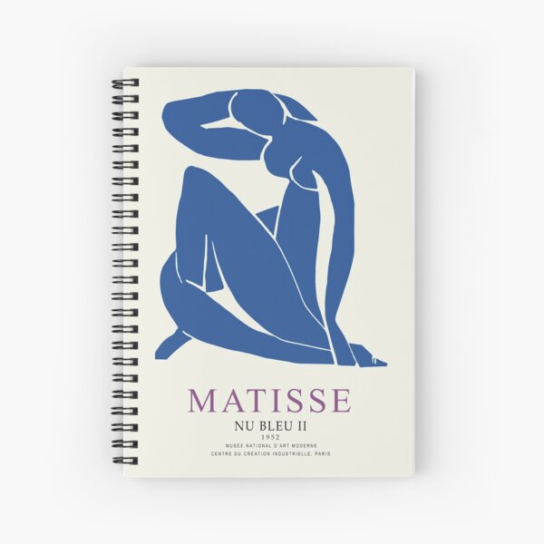 Henri Matisse Nu Bleu II (Blue Nude II) 1952 Artwork for Wall Art, Prints, Posters, Tshirts, Men, Women, Youth Spiral Notebook
