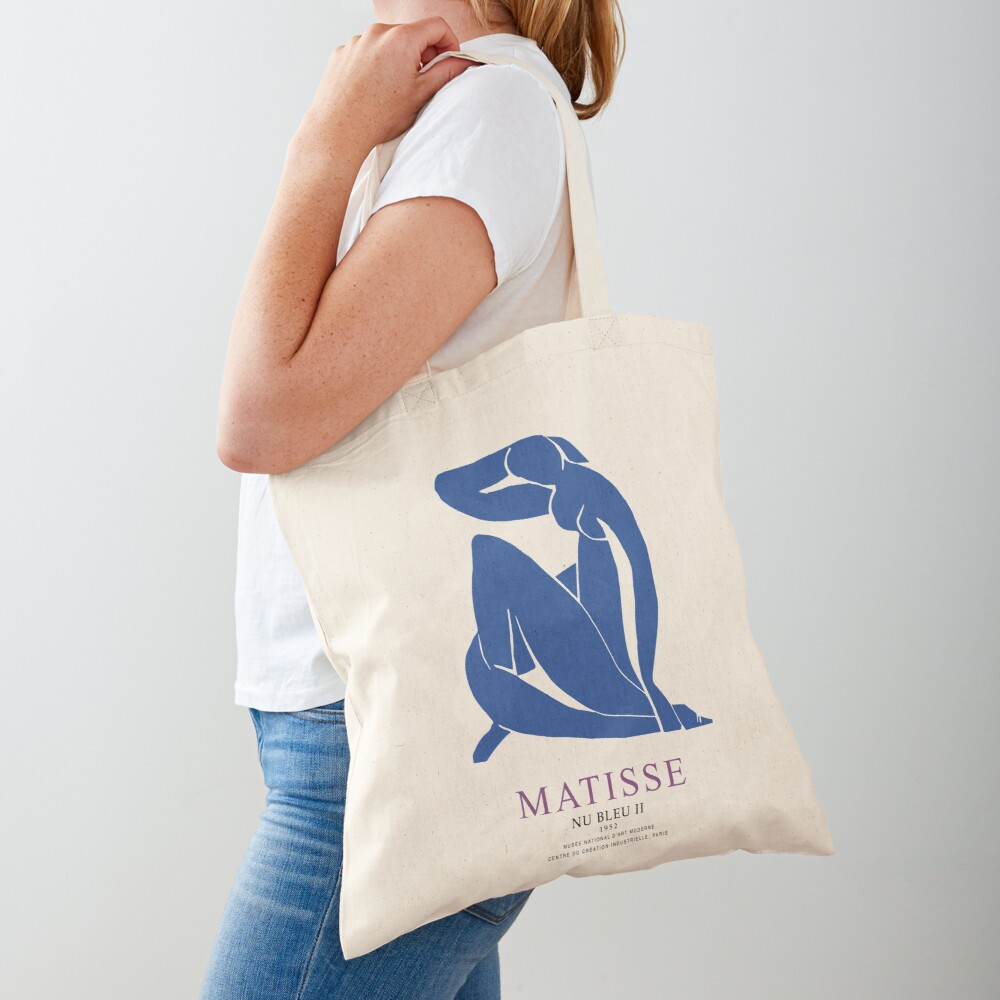 Henri Matisse Nu Bleu II (Blue Nude II) 1952 Artwork for Wall Art, Prints, Posters, Tshirts, Men, Women, Youth Tote Bag