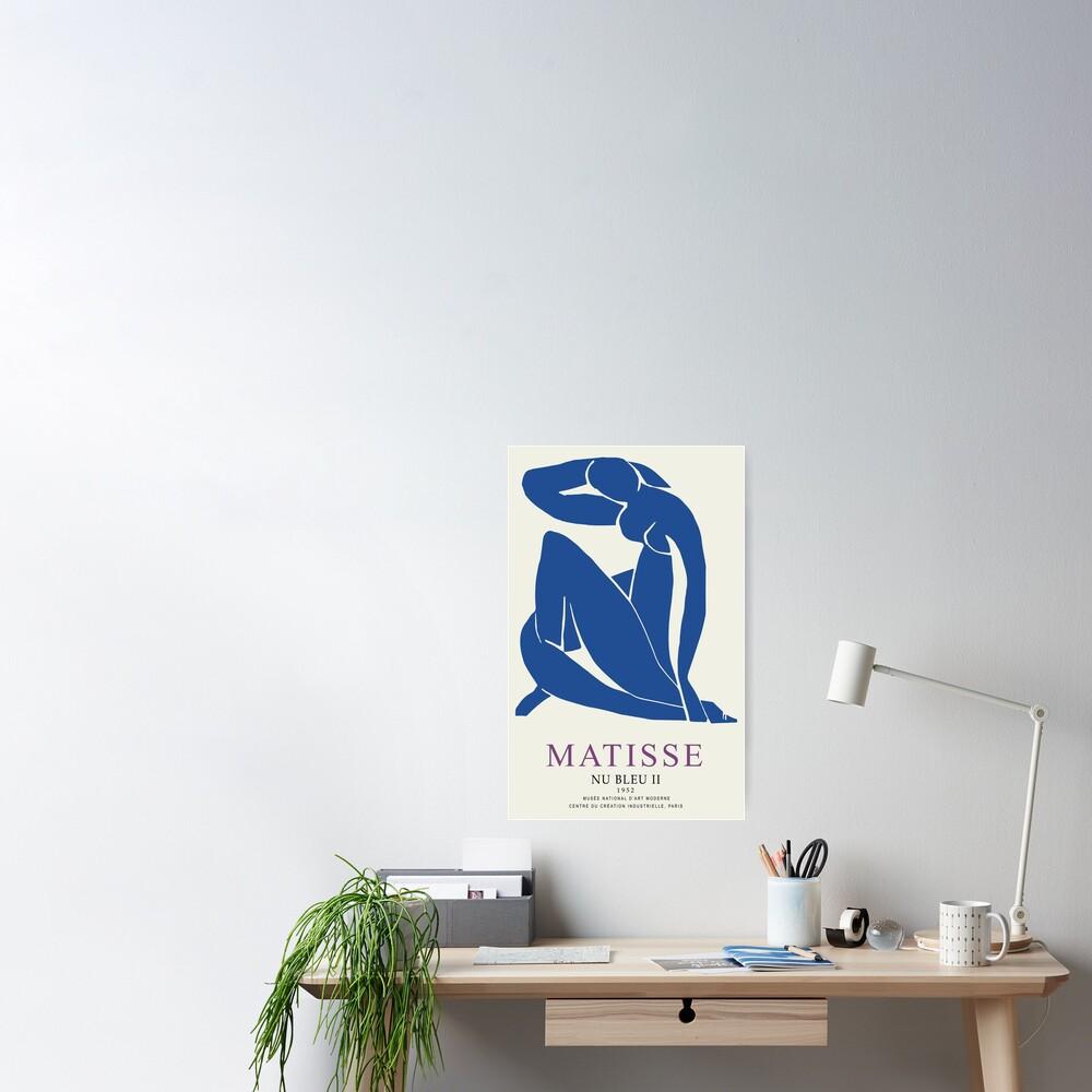 Henri Matisse Nu Bleu II (Blue Nude II) 1952 Artwork for Wall Art, Prints, Posters, Tshirts, Men, Women, Youth Poster